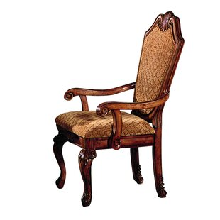 Astoria Grand Kanye Solid Wood Upholstered Dining Chair (Set of 2)
