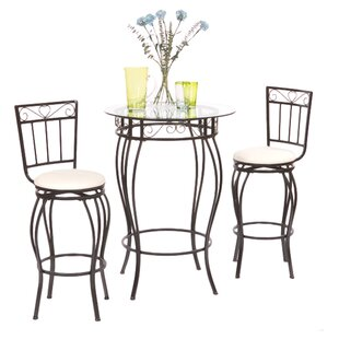 Davidson 3 Piece Pub Table Set Fleur De Lis Living