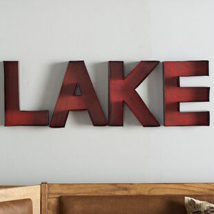 New Cordell Lake Letters Wall Décor