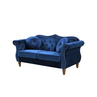 Bridges Classic Nailhead Chesterfield Loveseat by Rosdorf Park Looking for