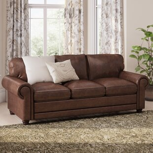 Clairsville Leather Sofa by Canora Grey
