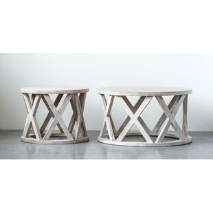 Read Reviews Keffer Round Mango Wood End Table by Bungalow Rose
