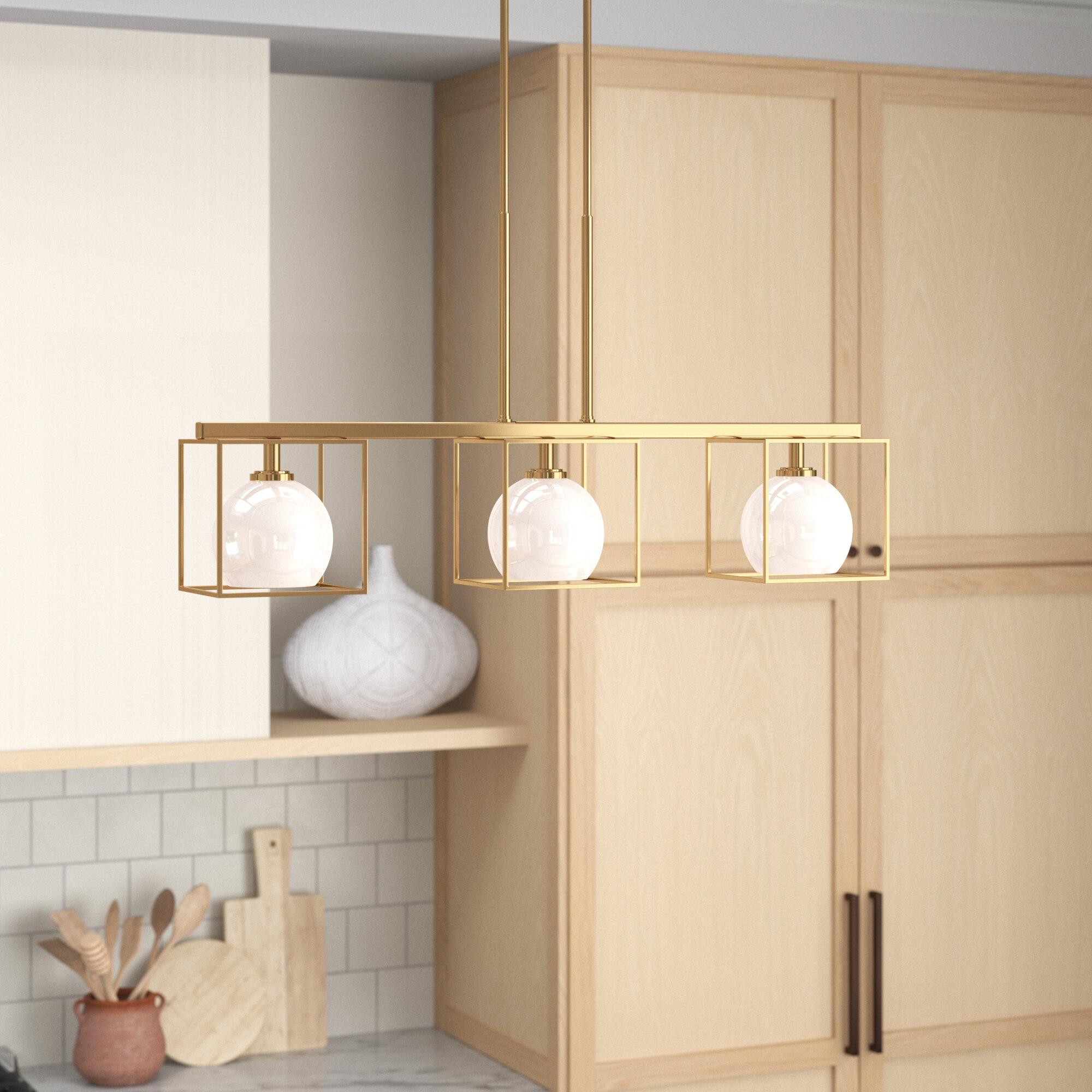 Yosef 3 Light Kitchen Island Linear Pendant Reviews Joss Main