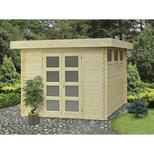 SolidBuild Moderna 9 ft. 9 in. W x 9 ft. 9 in. D Wooden Storage Shed