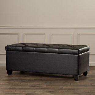 Charlotte Leather Storage Bench by Alcott Hill