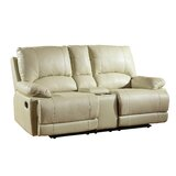 Ullery Upholstered Living Room Recliner Console Reclining Loveseat by Winston Porter