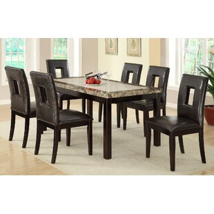 Mcginn 7 Piece Solid Wood Dining Set by B..