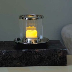 Resin Wavy Top Flameless Tea Lights Candle (Set of 4)