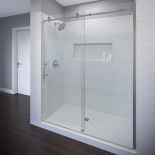 Vinesse 47 x 76 Single Sliding Fixed Panel Shower Door By Basco