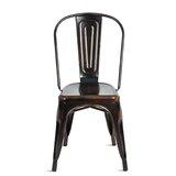 Boehm Metal Slat Back Side Chair in Bronze (Set of 4) by 17 Stories