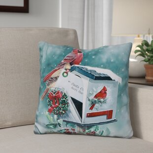 Berkey Christmas Cardinals Throw Pillow