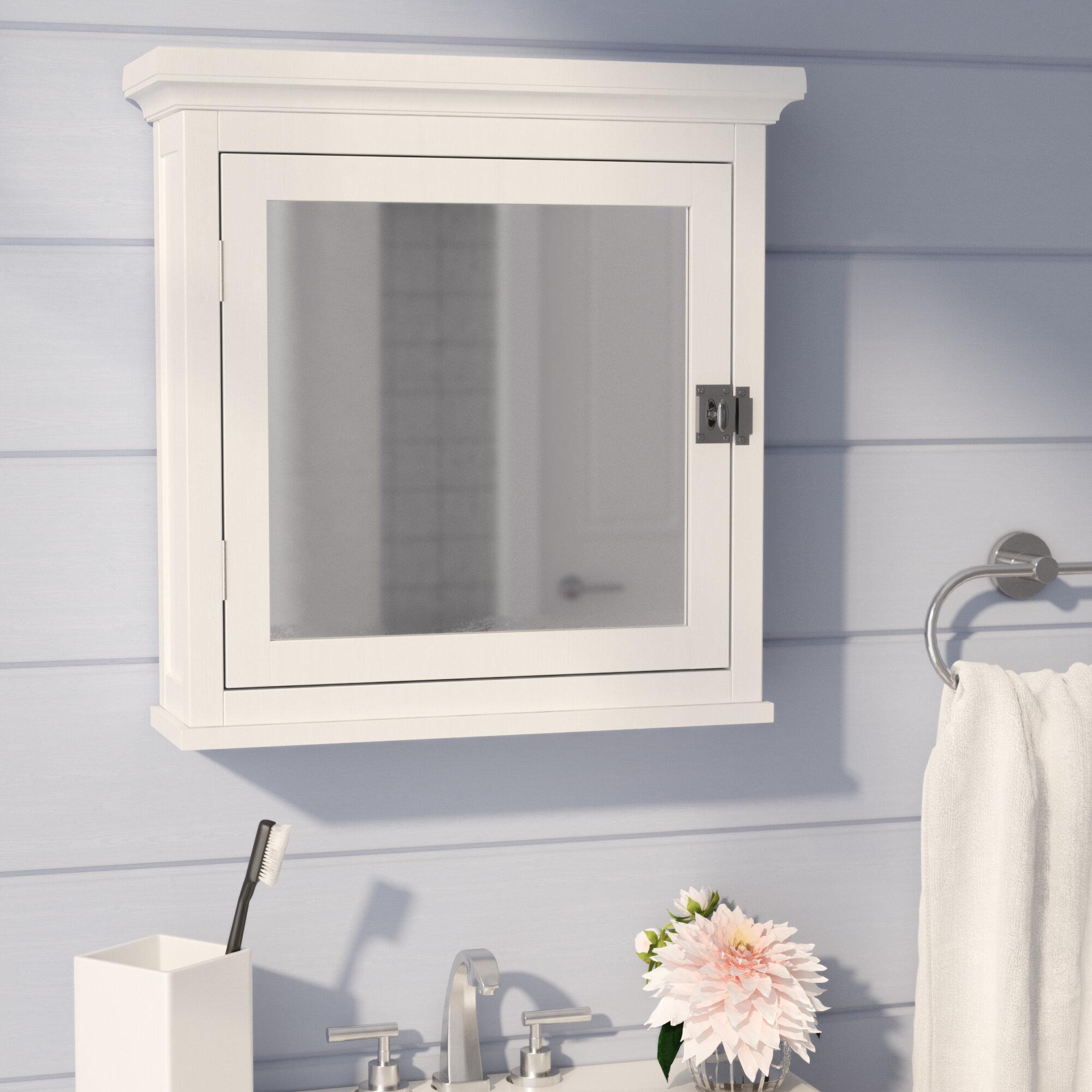 Beachcrest Home Sumter 18 75 X 19 Surface Mount Framed Medicine Cabinet With Adjule Shelves Reviews Wayfair