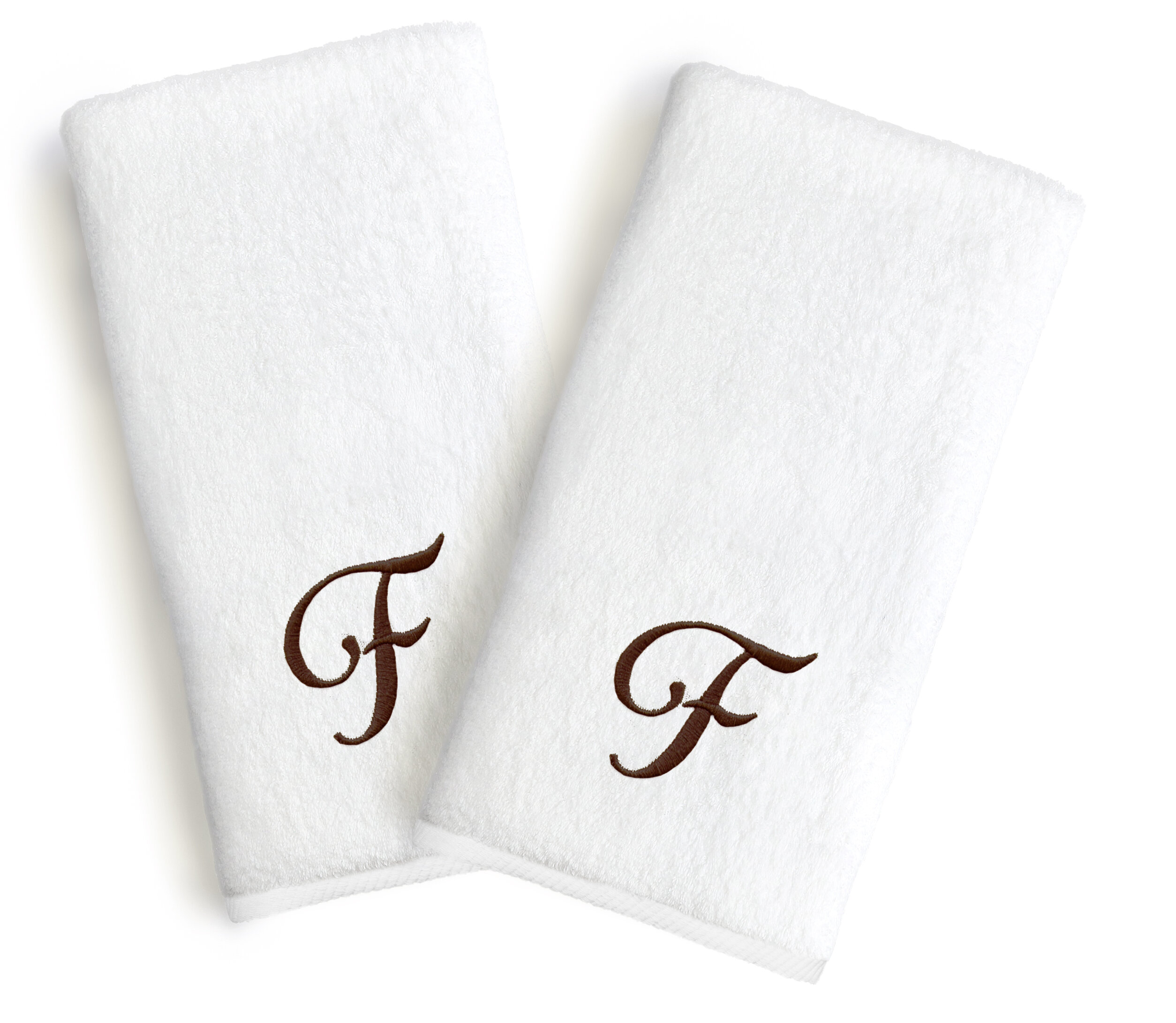 Linum Home Textiles Soft Twist Monogrammed Turkish Cotton Hand Towel U0026  Reviews | Wayfair