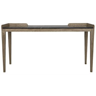 Stone Bleached walnut with stone top Rectangular Desk