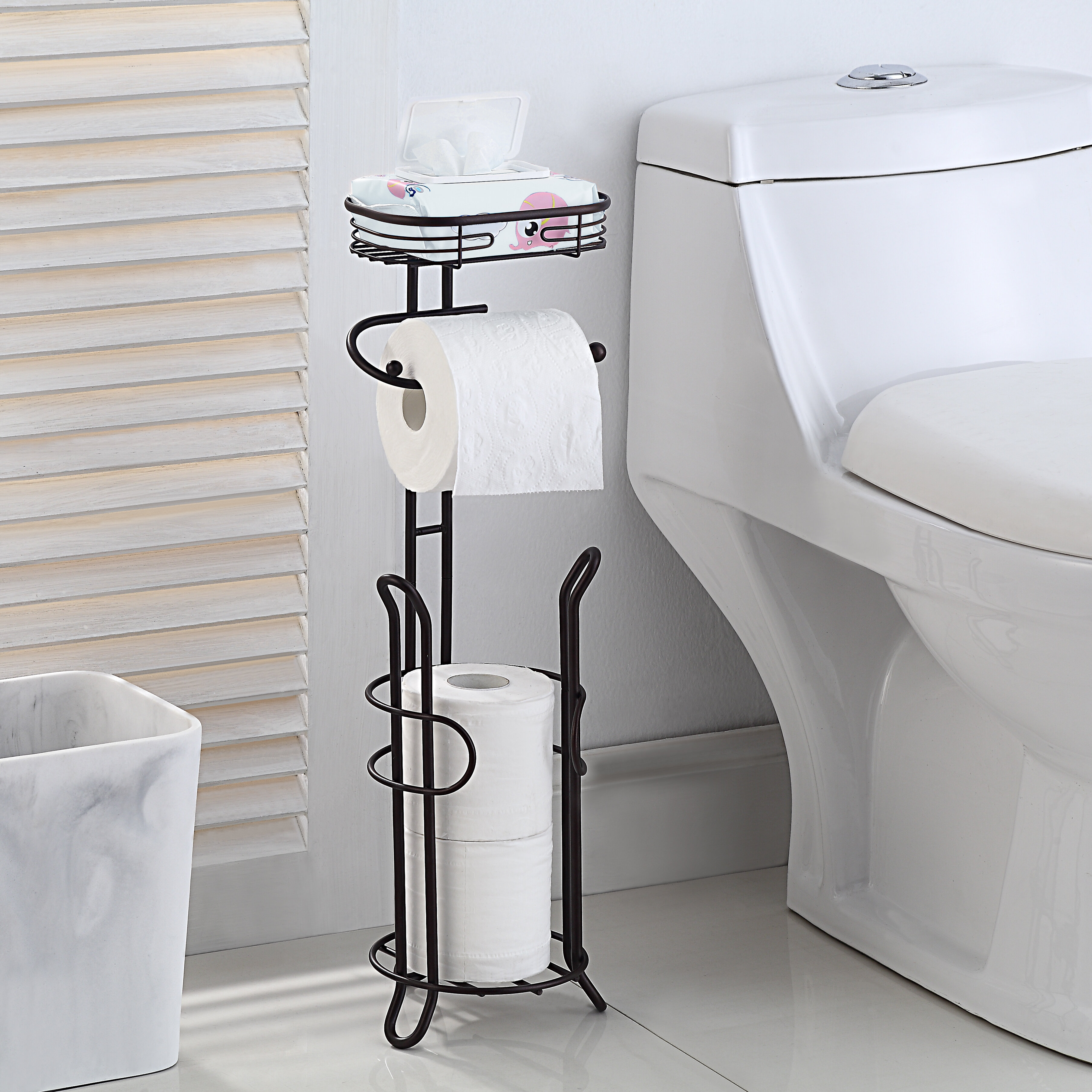 3 Roll Toilet Paper Holders You Ll Love In 2021 Wayfair
