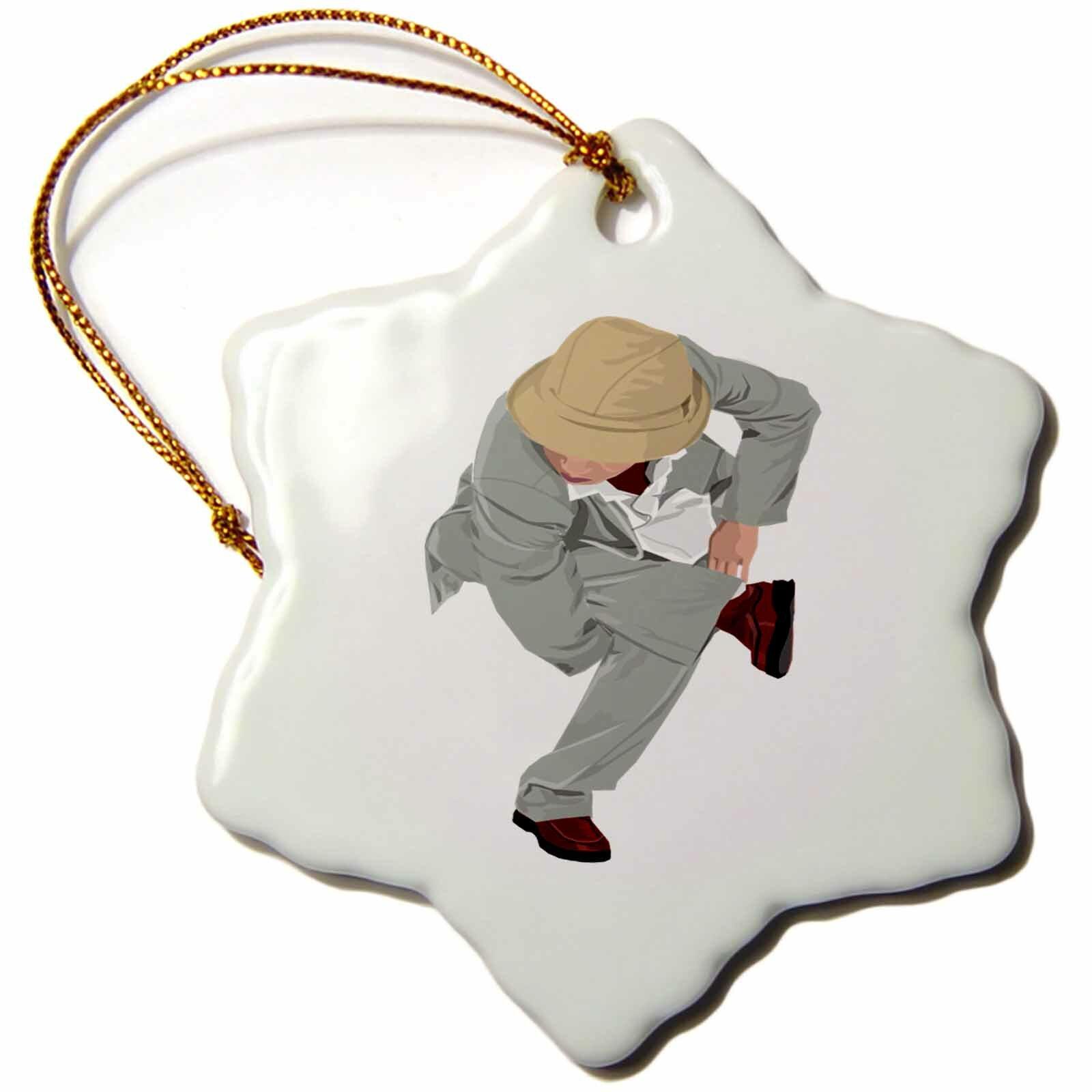 The Holiday Aisle Print Of Cartoon Break Dancer Snowflake Holiday Shaped Ornament Wayfair