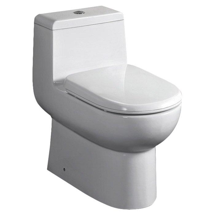 Toilette allongée une pièce à double chasse Antila
