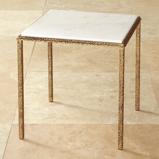 Hammered Square End Table