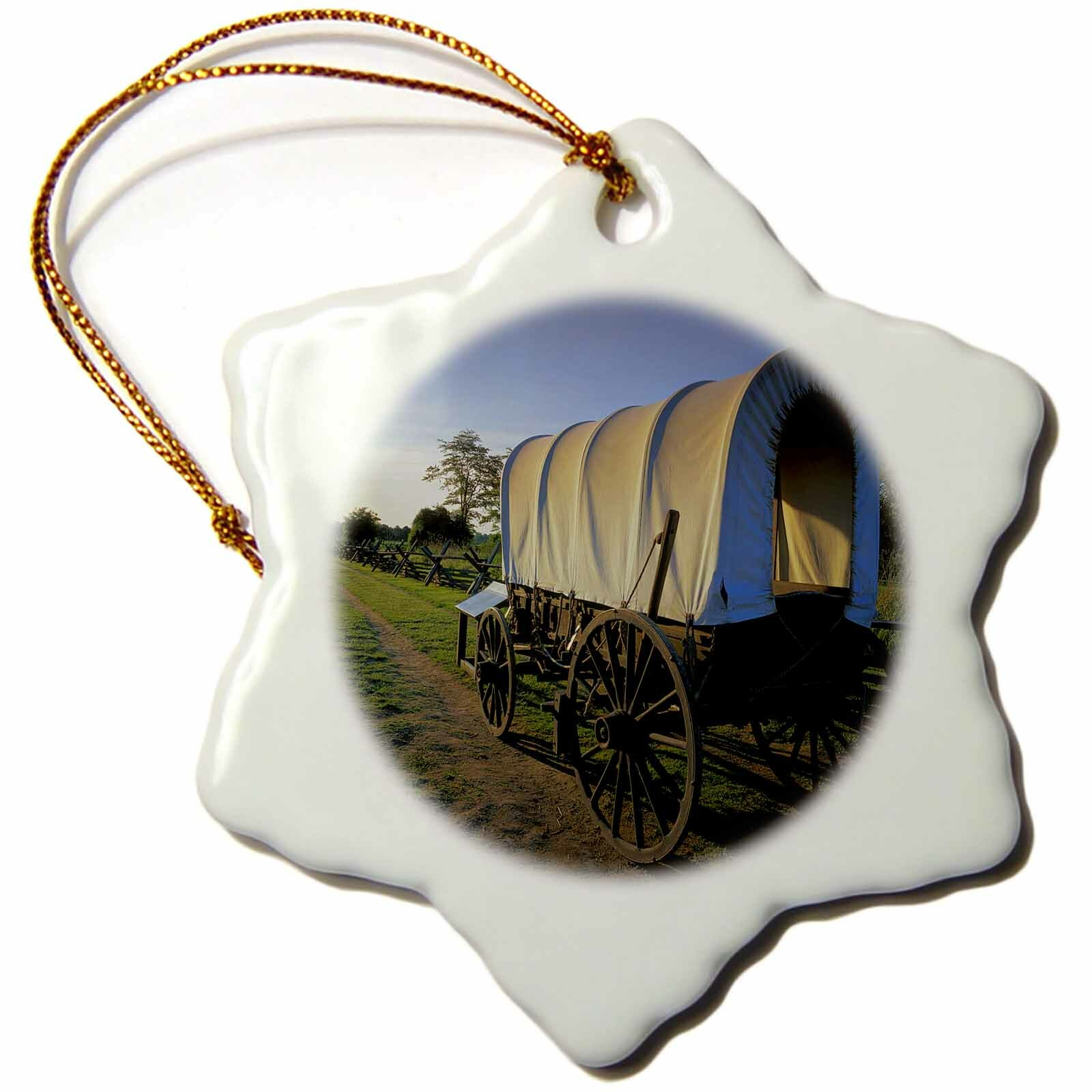 The Holiday Aisle Usa Washington Whitman Mission National Historic Site Covered Wagon Snowflake Holiday Shaped Ornament Wayfair