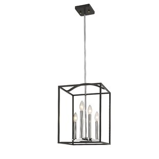 Wrought Studio Beacsfield 4-Light Lantern Pendant