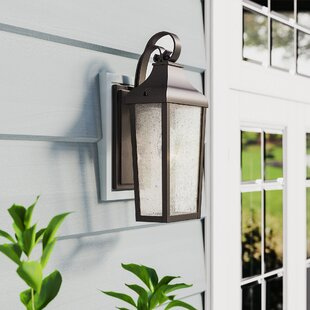 Harpole 1-Light Outdoor Wall Lantern by Three Posts