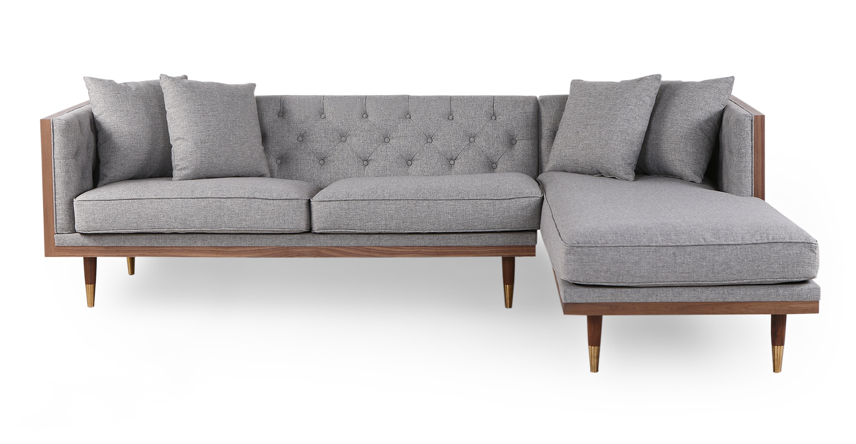 Image of: Brylee Mid Century Sectional Allmodern