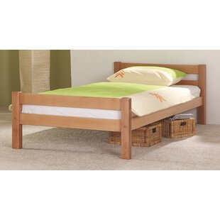India 90 X 200cm Solid Wood Bed By Harriet Bee