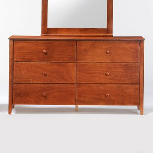 Claus 6 Drawer Double Dresser