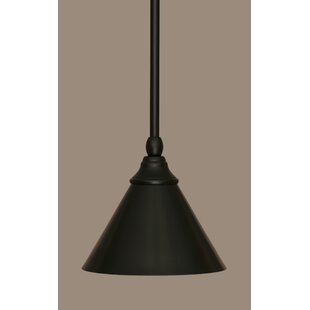 Gracie Oaks Du 1-Light Cone Pendant