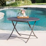 Hutt Folding Wicker/Rattan Dining Table