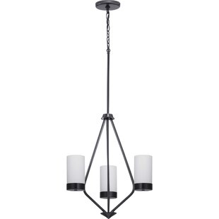 Aeroome 3-Light Shaded Chandelier by Wrought Studio