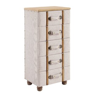Rowan Padded 5 Drawer Accent C..