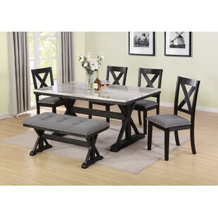 Nicki 6 Piece Dining Set DarHome Co