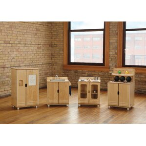 Modern Wooden Play Kitchen jonti-craft play kitchen sets & accessories you'll love | wayfair