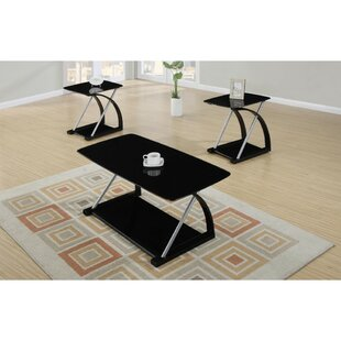 Lechuga 3 Piece Coffee Table Set