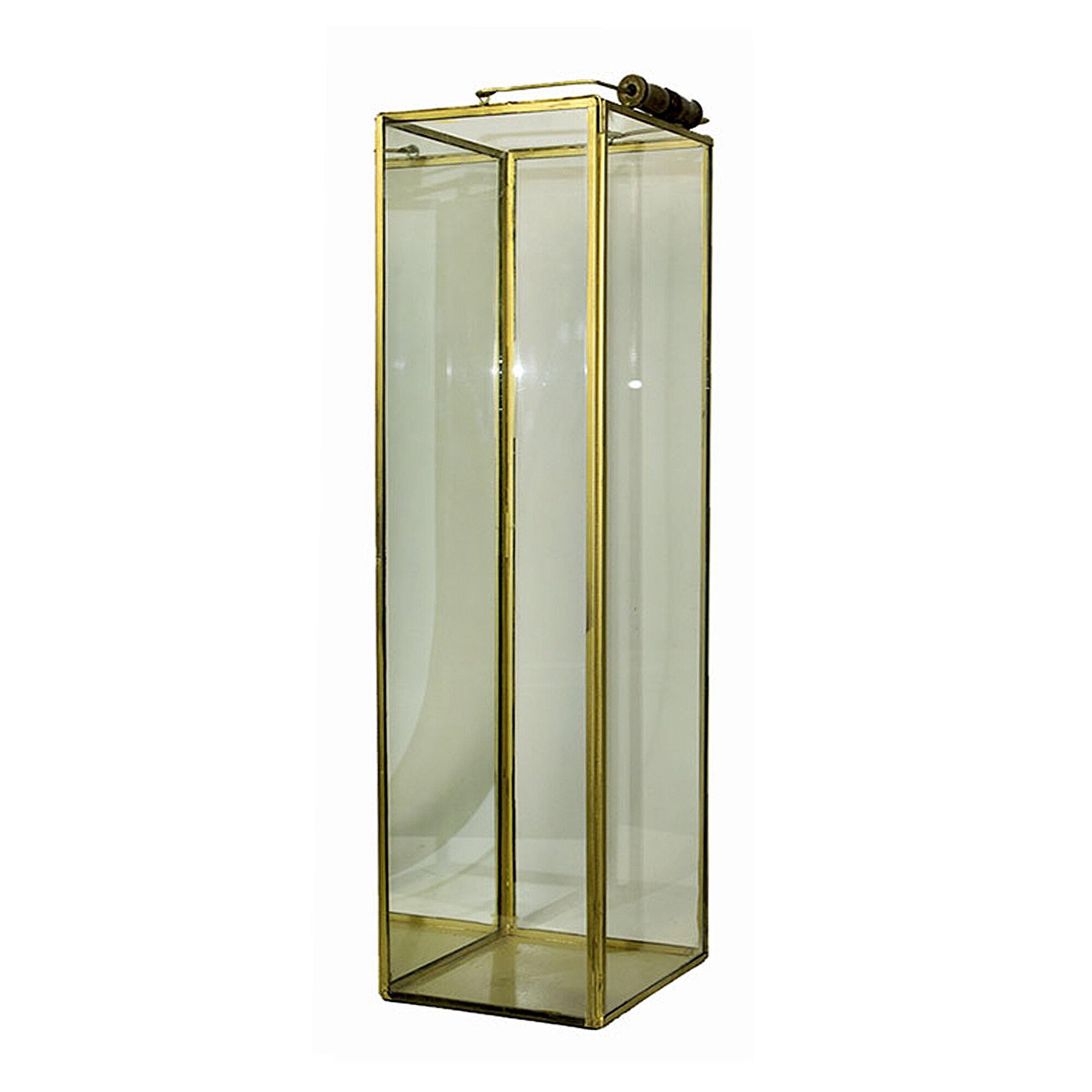 Bungalow Rose Justinich Square Glass Metal Lantern Wayfair