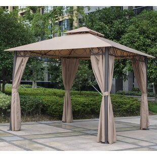 Mercury Row Bordner 10 Ft. W x 10 Ft. D Metal Patio Gazebo