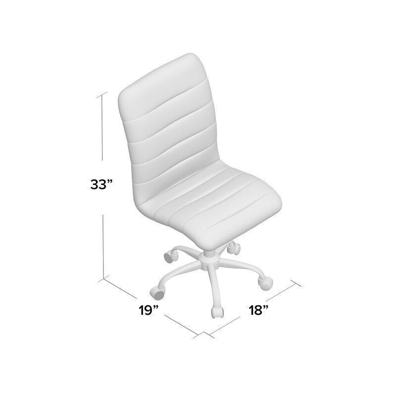 Parkland Mid Back Armless Desk Chair