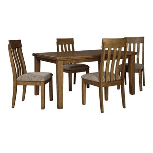 Fia 5 Piece Extendable Dining Set by Millwood Pines