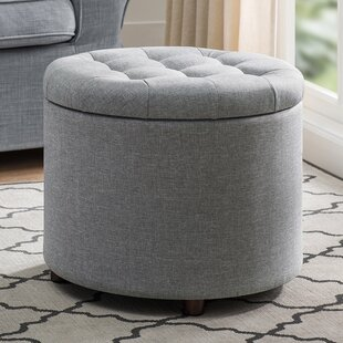 Zora Tufted Storage Ottoman With Tray