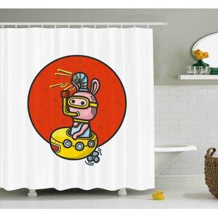 Jesse Yellow Submarine Little Alien Cartoon Shower Curtain