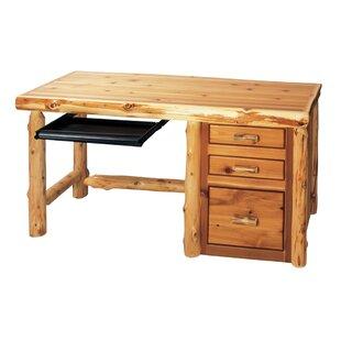 Traditional Cedar Log Credenza desk