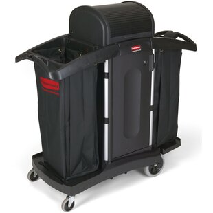 High-Security Housekeeping Utility Cart by Rubbermaid Commercial Products