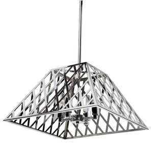 Brayden Studio Gorby 4-Light Square/Rectangle Chandelier
