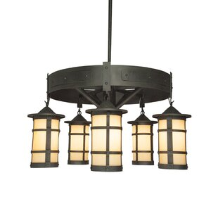 Loon Peak Beeman 5-Light Lantern Chandelier