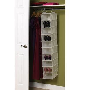 10-Compartment 10 Pair Hanging Shoe Organizer By Household Essentials
