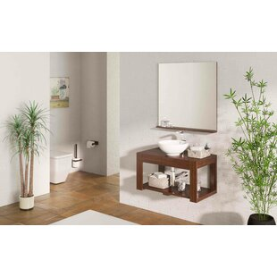 Review Dicus Solid Pine 800mm Wall Hung Single Vanity Unit (Set Of 4)