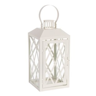 Gracie Oaks Metal Lantern with Sturdy Ring and Vented Roof