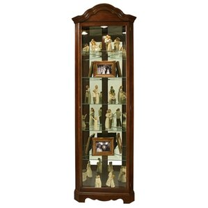 Murphy Lighted Corner Curio Cabinet by Howard Miller®