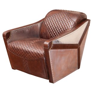 Home Loft Concepts Moore Leather And Metal Armchair